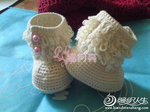 钩针萝卜丝针童靴