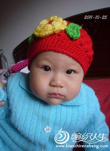宝宝旧帽子的样子,正面