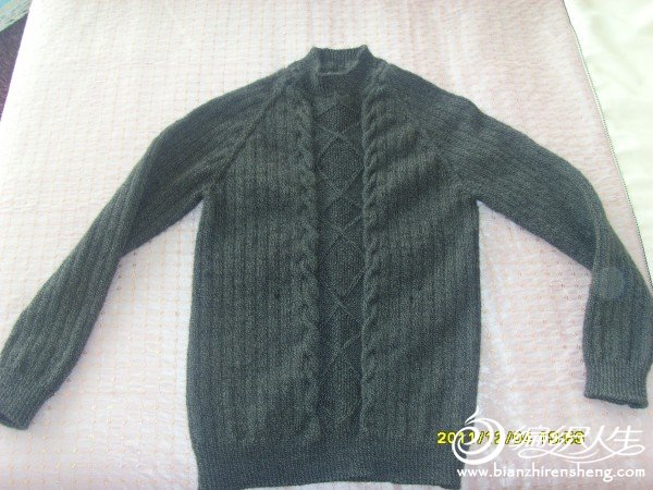 侄子方明的黑色夹花毛衣2.JPG