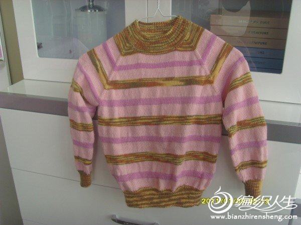 宝贝的条纹毛衣.JPG