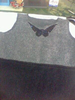 我的布与线结合的马甲裙