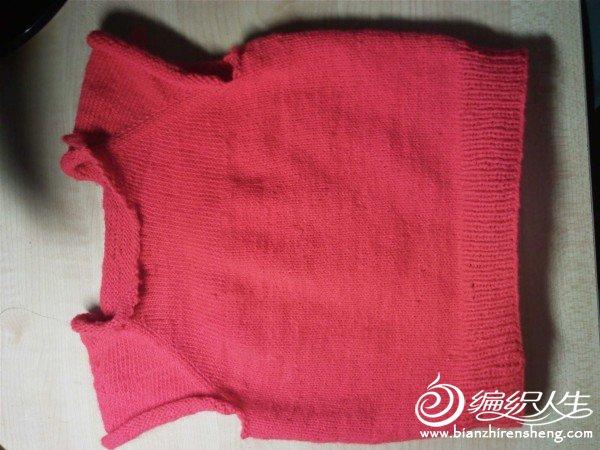 第一次织的宝宝背心