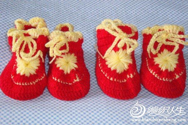 给宝宝新钩的小鞋子