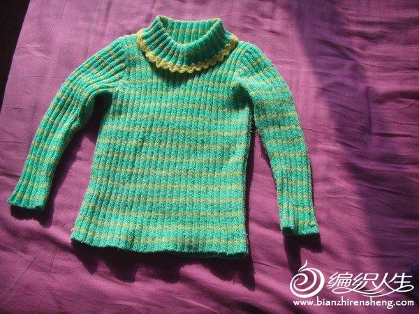 一岁时织的,大一点估计三岁也能穿