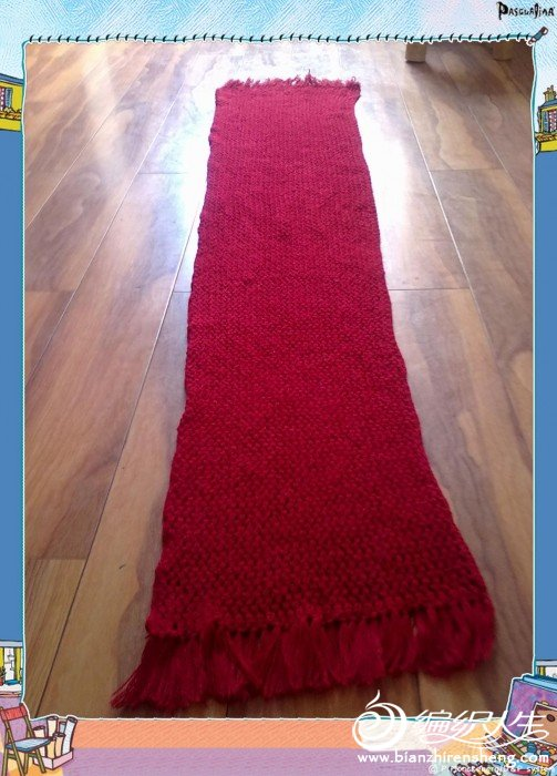 这是给老公织的围巾——红色情网