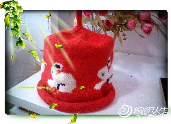 这是宝宝的帽子——白色兔子