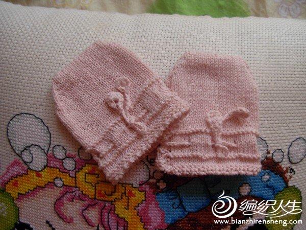粉红防抓保暖手套