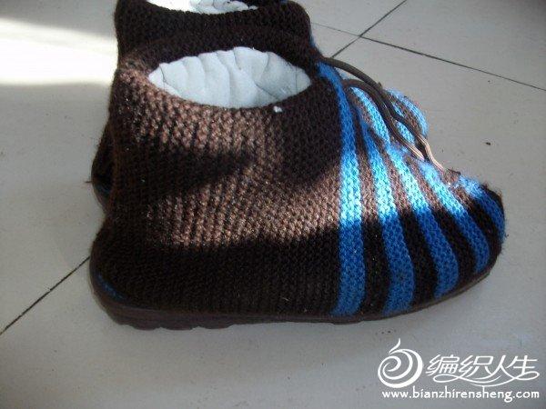棒针鞋的织法图解