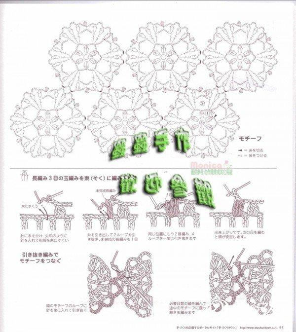 图解,其实也不复杂,上面是图解,下面是如何接拼花