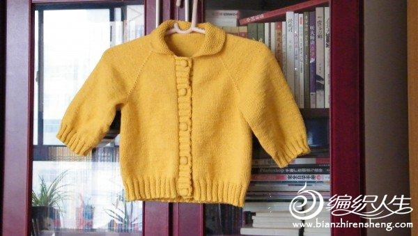 这是送给朋友的儿子的小外套,也是红梅家的纯棉线,便宜又省线