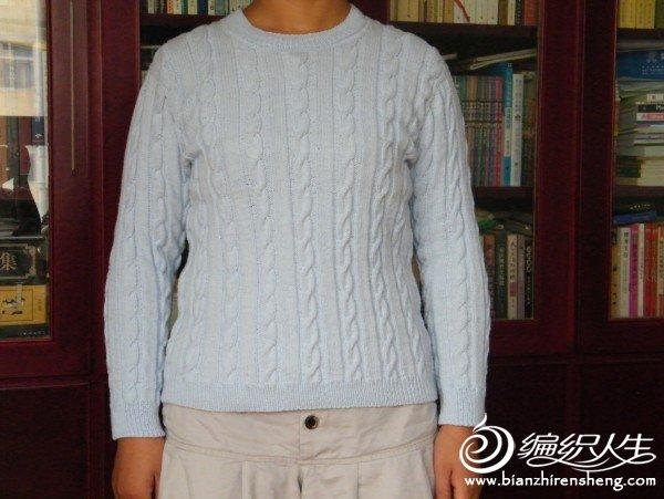 这是我给自己织的纯棉线的