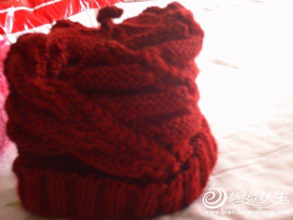 父亲的帽子-深红色