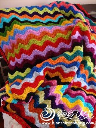 波浪纹彩虹毯子.jpg