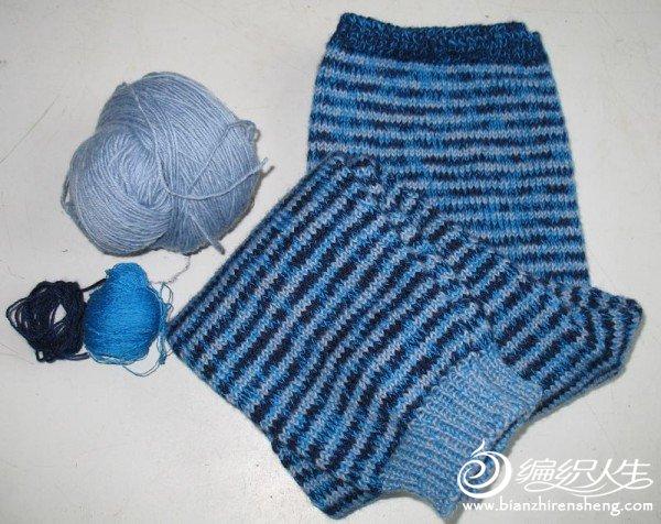 送朋友孩子的毛裤,都是剩线,一分都没花哦