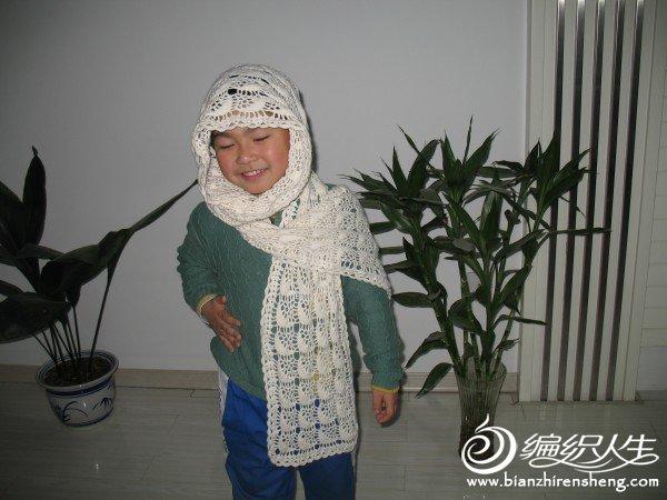 嗯,围漂亮的围巾好享受