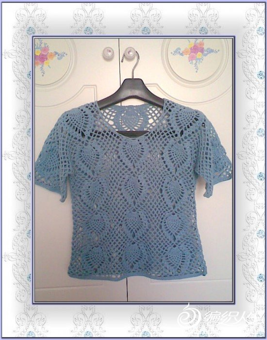 蓝灰圆棉菠萝短袖.jpg