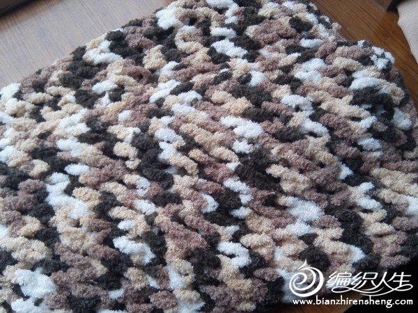 自己学织的情人网围巾