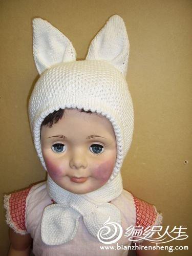 专题 兔子娃娃       梅给给 版块:[披肩围巾帽子(棒针)]棉线兔子帽
