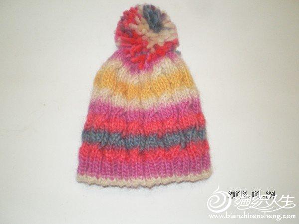 乐谱线织的帽子
