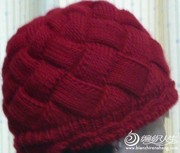 给妈妈织的帽子