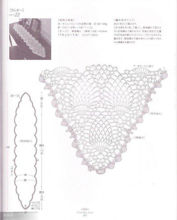 菠萝围巾图解3