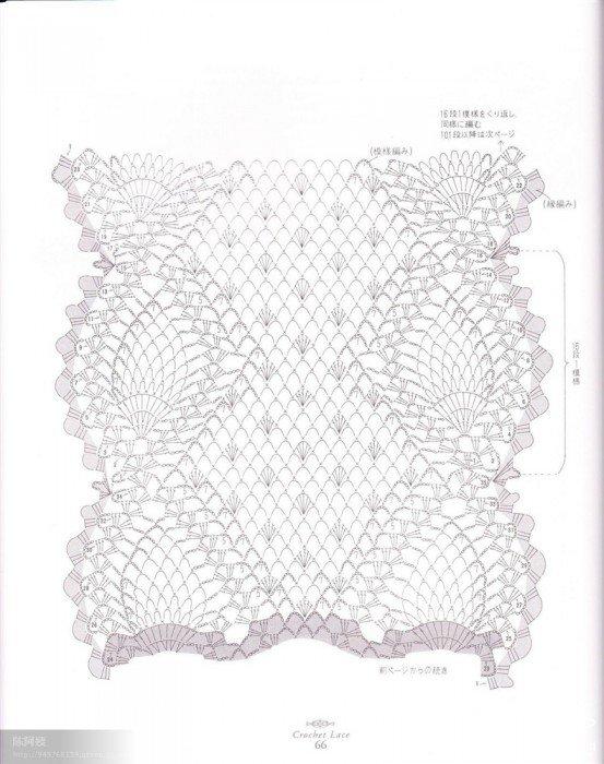 菠萝围巾图解2