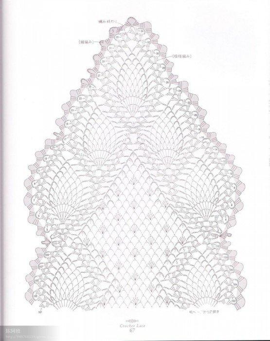 菠萝围巾图解1