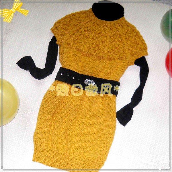 谷黄色圆肩背心裙2.jpg