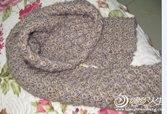 第一次织给婆婆的围巾