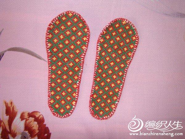 简单的十字绣鞋垫_编织人生论坛