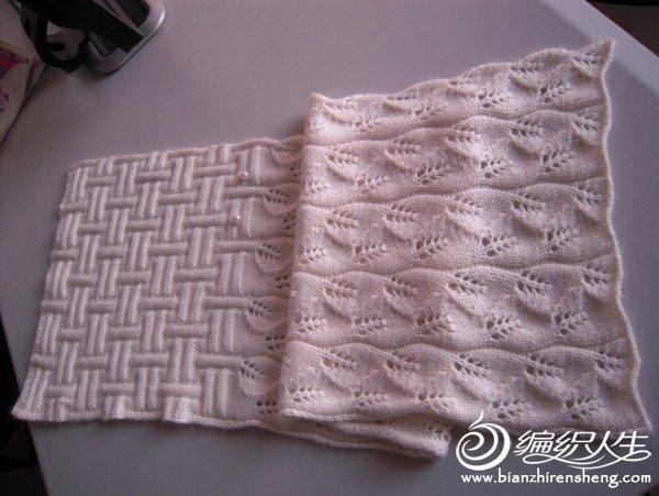 去年冬天织了两个围脖,都是喜欢的叶子花,结合正反针图案,很时尚的感觉。白色是实体店买的羊毛线配四季织家的马海毛,红色线是妈妈手工坊的丹尼斯手编羊绒http://bbs.bianzhirensheng.com/thread-382127-1-1.html,线的手感都很好,有弹性,又软软的,围上很舒服。注意:16针一个花.