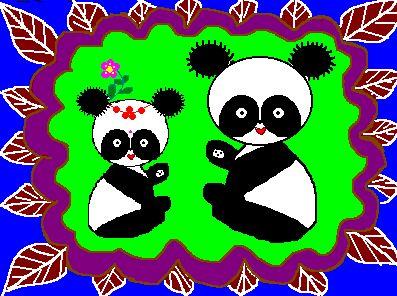高馥娥老师儿童实用美术绘画集锦(熊猫)