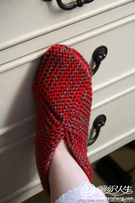 消灭旧毛线棒针毛线靴11.jpg
