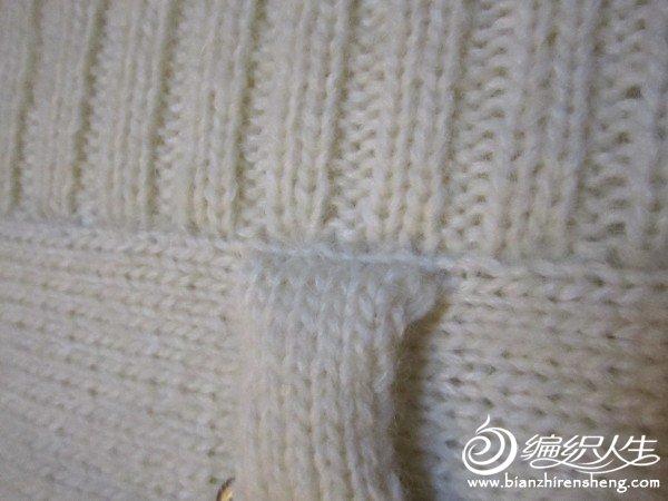 织玩16行约5cm与衣片缝合(不要忘了先把搭扣套上呀)