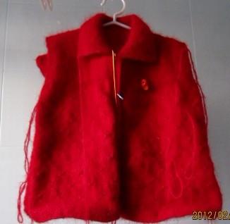 红毛衣半成品