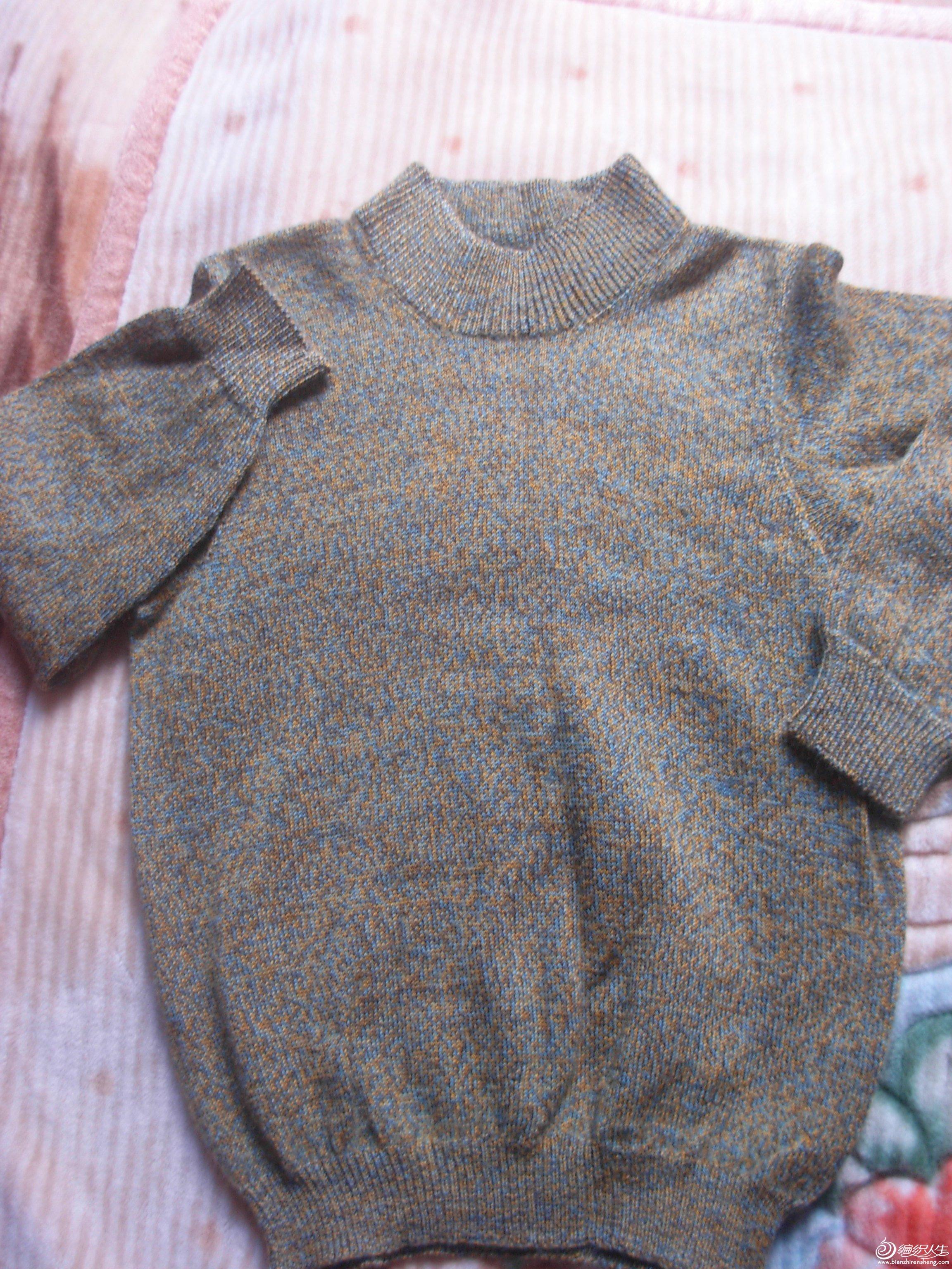 还是儿子的,这是我织过的最细的线,一件衣用量三两多一点