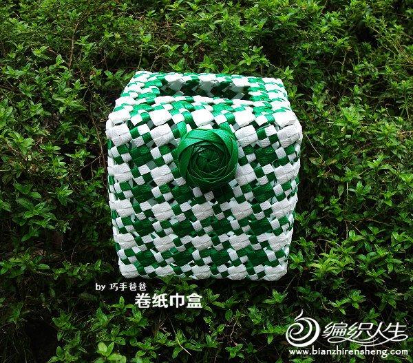 绿白碎格卷纸巾盒 (1).JPG