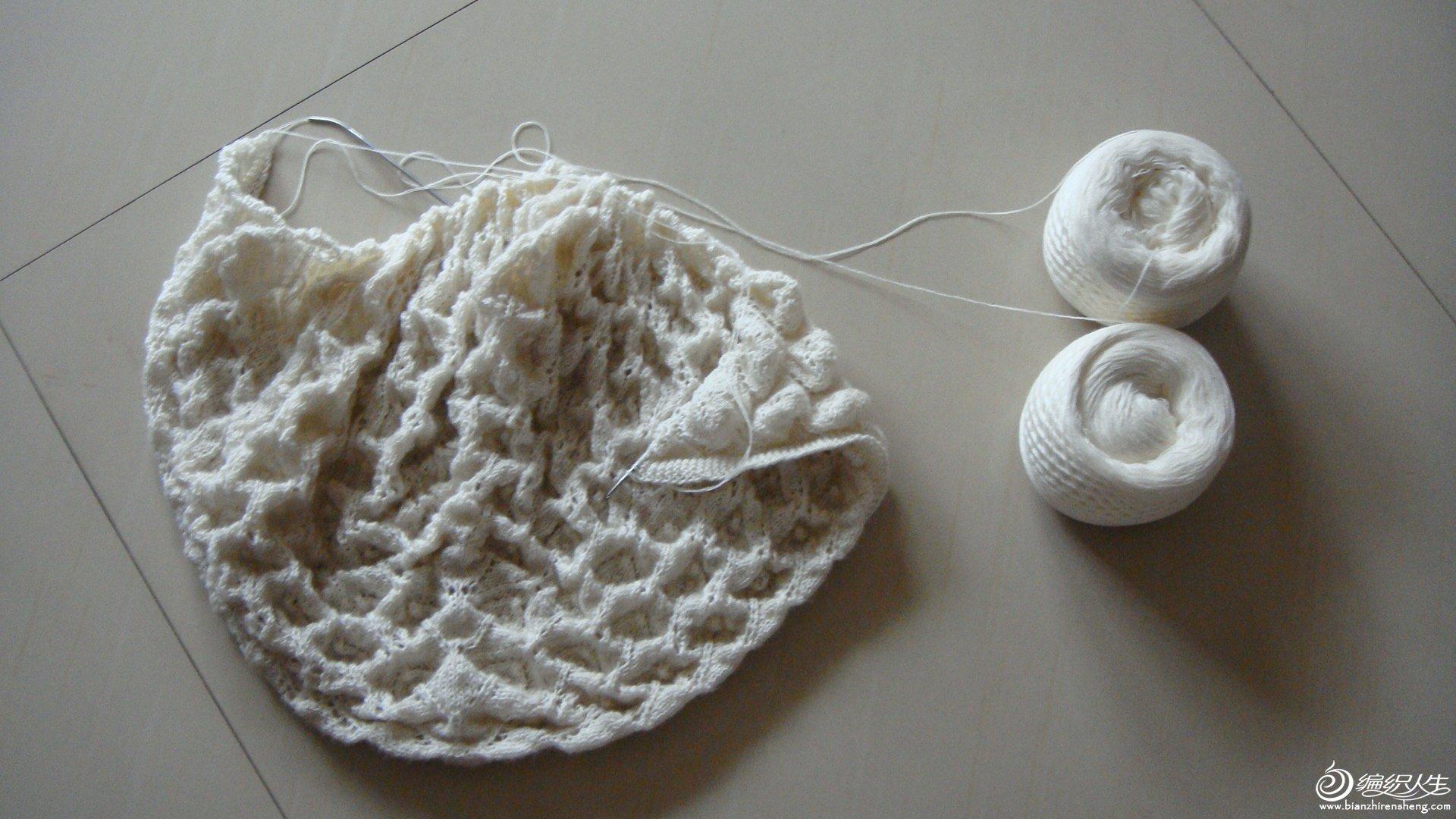 编织过程中