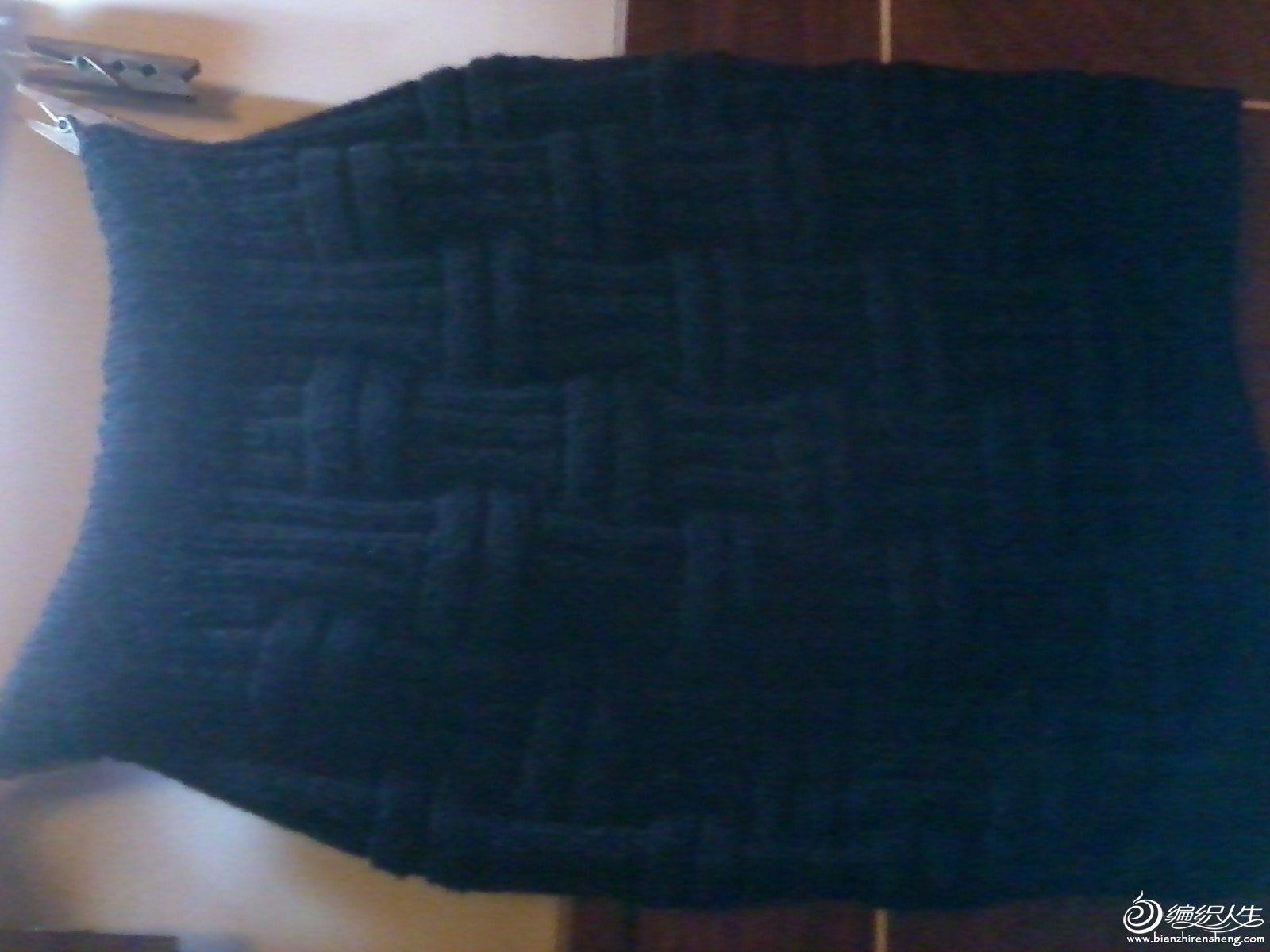 毛线包臀短裙1
