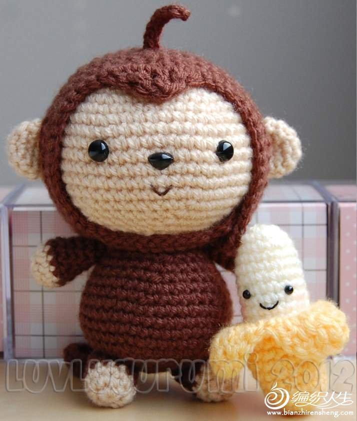 钩针猴子和香蕉