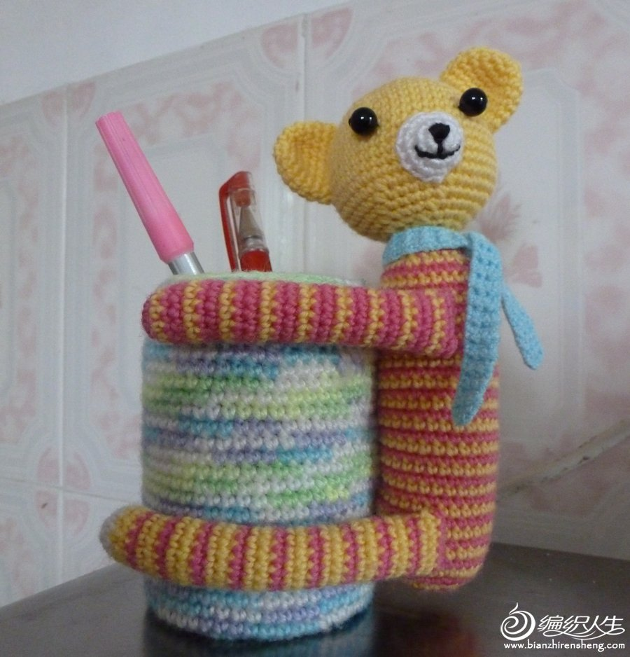 小熊笔筒2