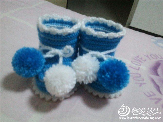 给朋友家宝宝织的鞋子3
