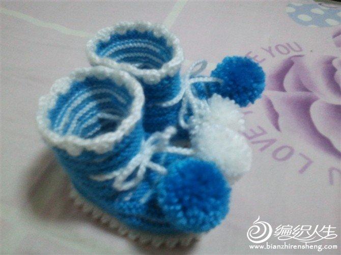 给朋友家宝宝织的鞋子1
