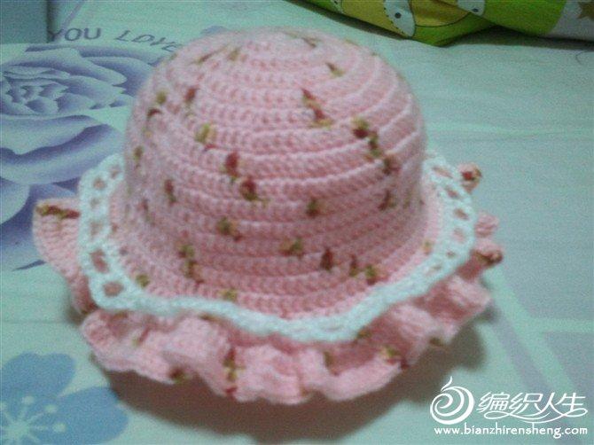 钩针钩的宝宝太阳帽.jpg