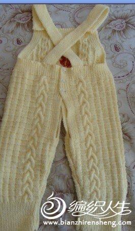 给朋友宝宝织的背带裤_编织人生论坛
