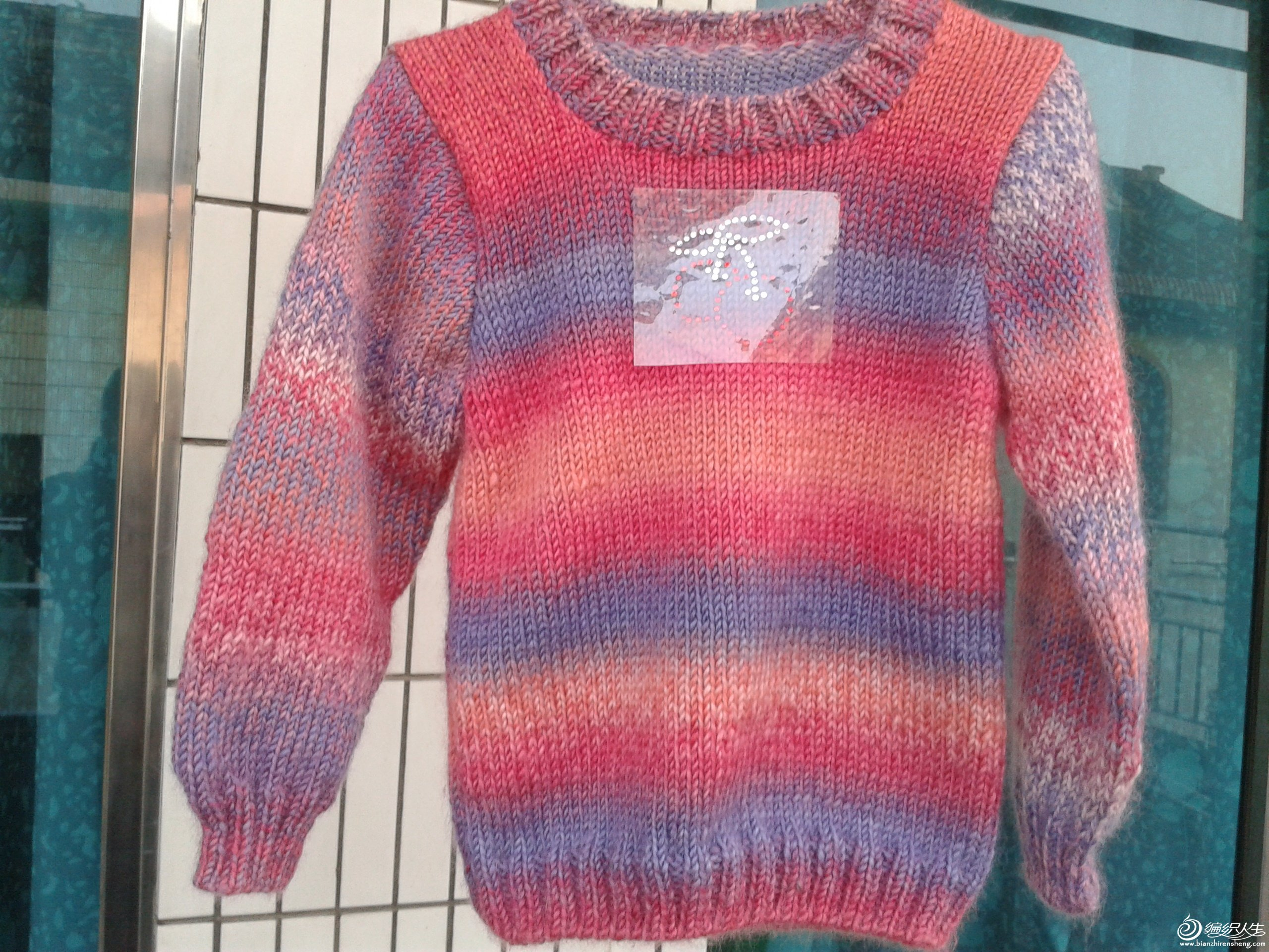 2012-03-21 侄女的段染毛衣.jpg