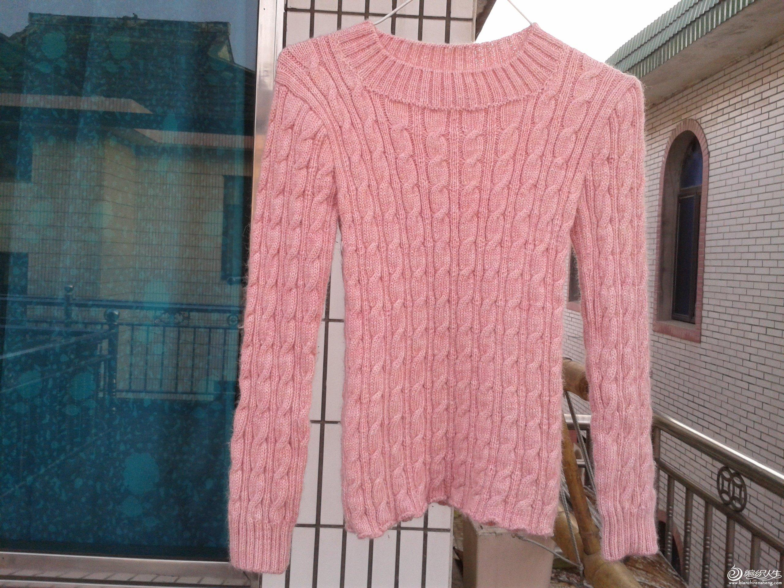2012-03-21 女儿粉红麻花羊毛衫2.jpg