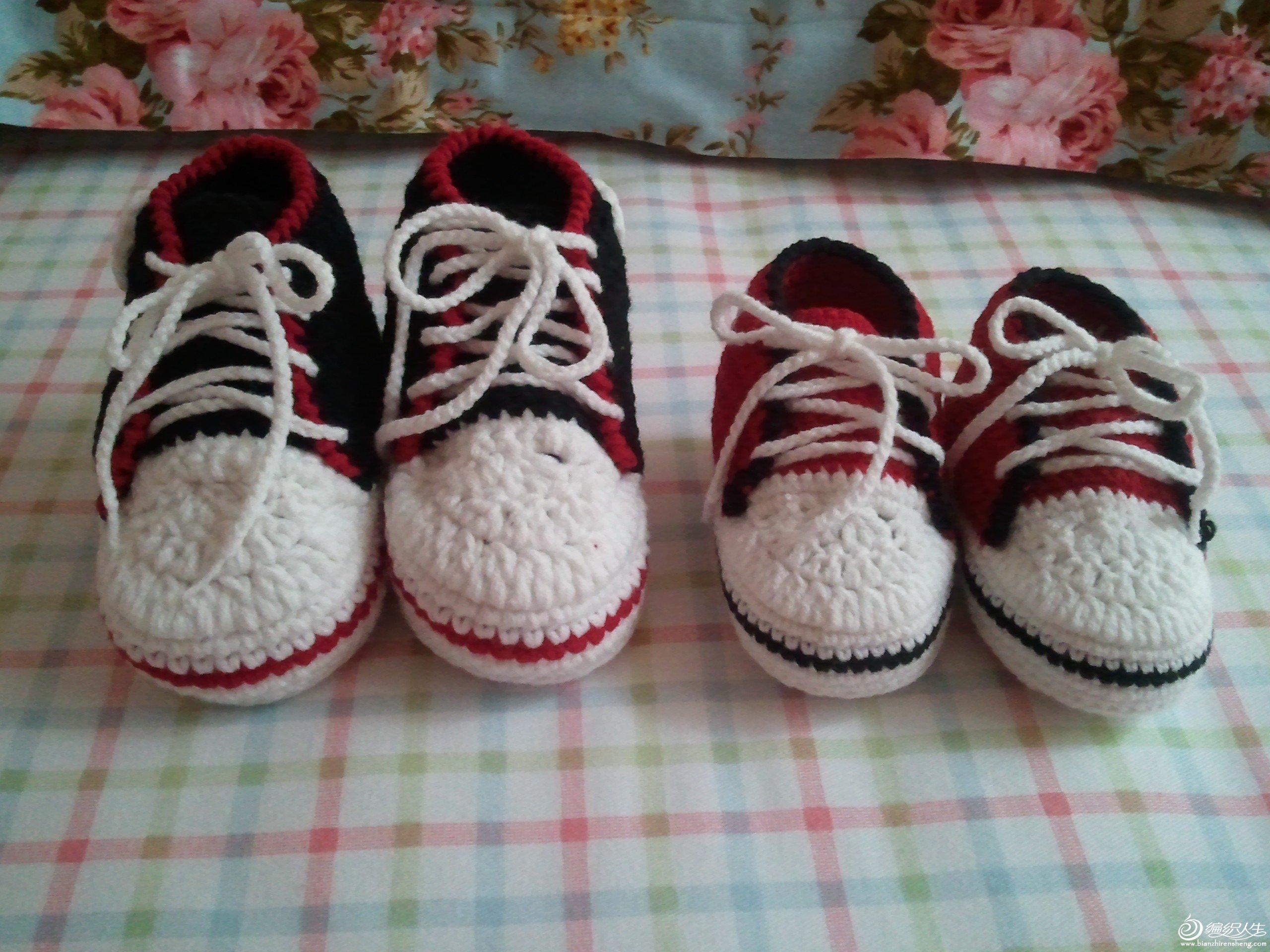 钩针宝宝小球鞋高清图片