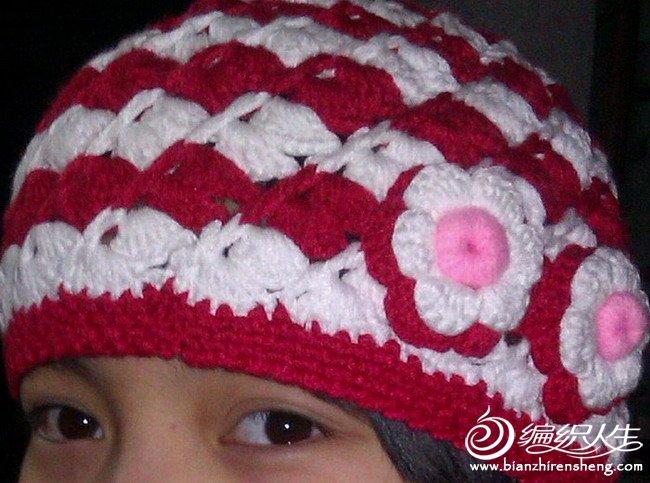 这是给弟弟的女儿钩的帽子