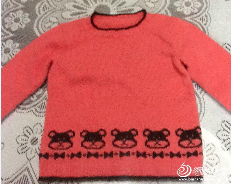 西瓜红小熊毛衣.JPG